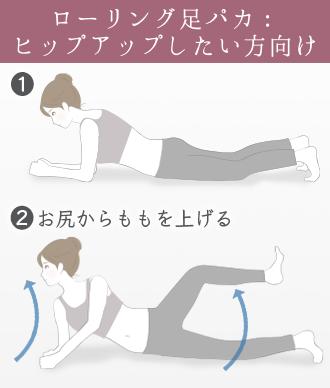 お尻の力を使って太ももを上げるとより引き締め効果が期待できる