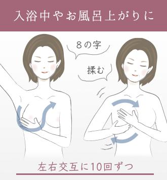 乳腺を発達させるためにマッサージする