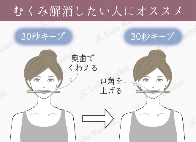 割り箸を使った小顔体操のやり方